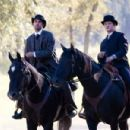 "PAUL SCHNEIDER as Dick Liddil and JEREMY RENNER as Wood Hite in Warner Bros. Pictures' and Virtual Studios' drama ""The Assassination of Jesse James by the Coward Robert Ford,"" distributed by Warner Bros. Pictures. Photo by Kimberle"