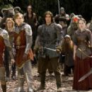 William Moseley, Skandar Keynes, Ben Barnes, Anna Popplewell and Peter Dinklage in The Chronicles of Narnia: Prince Caspian.