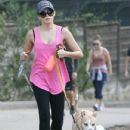 Jenna Dewan took a hike with her dogs at Runyon Canyon in Los Angeles, California on November 25, 2012