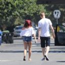 Ariel Winter in Denim Shorts out in Beverly Hills - 454 x 497