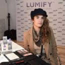 Nikki Reed – Beauty Bar featuring LUMIFY Redness Reliever Eye Drops in NY - 454 x 428