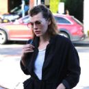 Milla Jovovich at Christmas Shopping in West Hollywood - 454 x 681