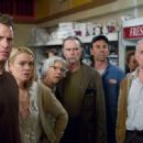 L to R: Thomas Jane, Laurie Holden, Frances Sternhagen, David Jensen and Jeffrey DeMunn in The Weinstein Company 'The Mist.' - 454 x 301