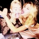 Stella Maxwell and Miley Cyrus
