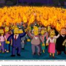 The entire town of Springfield – transformed into an angry mob – makes its way to the Simpson household, seeking revenge for a catastrophe triggered by Homer's epic stupidity. The Simpsons TM and © 2007 Twentieth Century Fox Film Corpora