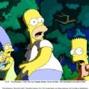 The Simpsons – (from left) Lisa, Maggie, Marge, Homer and Bart – flee Springfield in the dark of night. The Simpsons TM and © 2007 Twentieth Century Fox Film Corporation. All rights reserved.