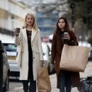 Jenna Louise Coleman and Dianna Agron – Shopping in London - 454 x 546