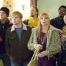 Jason Mewes as Lester, Ricky Mabe as Barry, Jeff Anderson as Deacon, Traci Lords as Bubbles, Craig Robinson as Delaney and Katie Morgan as Stacey in The Weinstein Company drama romance 'Zack and Miri Make a Porno.' - 454 x 301