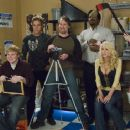 Ricky Mabe as Barry, Jason Mewes as Lester, Jeff Anderson as Deacon, Craig Robinson as Delaney, Katie Morgan as Stacey and Traci Lords as Bubbles in The Weinstein Company drama romance 'Zack and Miri Make a Porno.' - 454 x 301