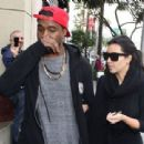 Kim Kardashian: step out for a low key Christmas Eve lunch in Los Angeles