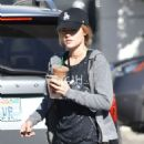 Lucy Hale – Grabbing an Iced Coffee from Starbucks in Studio City 12/1/ 2016 - 454 x 572
