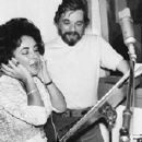 Elizabeth Taylor With Stephen Sondheim Recording The 1977 Movie Soundtrack To A LITTLE NIGHT MUSIC - 382 x 259
