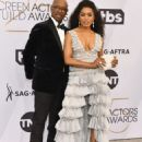 Angela Bassett and Courtney B.Vance At The 25th Annual Screen Actors Guild Awards (2019) - 454 x 596