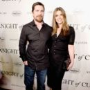 Christian Bale  and Sibi Blazic  : 'Knight of Cups'  Premiere - 393 x 600