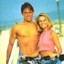 Nicole Eggert and Kelly Slater