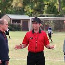Coaches Buck and Phil Weston (Robert Duvall and Will Ferrell) meet with Ref (Dave Herman) - Kicking and Screaming 2005
