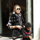 Model Heidi Klum takes her children Johan, Henry and Leni to the Grove shopping centre in Hollywood