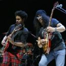 Slash performs at 'Across The Great Divide' benefit concert presented by UpperWest Music Group at Ace Theater Downtown LA on October 19, 2018 in Los Angeles, California - 454 x 299
