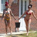 Jemma Lucy and Laura Alicia Summers in Bikini – Car Washing in Manchester - 454 x 331