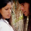 Christina Souza as Dayumae and Louie Leonardo as Mincayani in Jungle Films LLC's End of the Spear - 2006. - 299 x 212