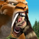 Diego (voiced by Denis Leary) and Crash (voiced by Seann William Scott) in 20th Century Fox Pictures', Ice Age 2.