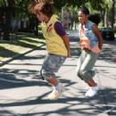 Corbin Bleu as Izzy Daniels and Keke Palmer as Mary in Jump In