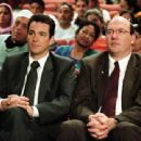 Jon Tenney as Mark and John Carroll Lynch as Stuart in writer/director Albert Brooks' Looking for Comedy in the Muslim World, a Warner Independent Pictures release. Photo credit: Lacey Terrell © 2005 Shangri-La Entertainment, LLC.