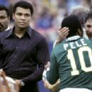 Pelé and Muhammad Ali in ONCE IN A LIFETIME: THE EXTRAORDINARY STORY OF THE NEW YORK COSMOS. Photo Credit: George Tiedmann/Courtesy of Miramax Films.