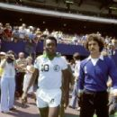 Pelé and Shep Messing in ONCE IN A LIFETIME: THE EXTRAORDINARY STORY OF THE NEW YORK COSMOS. Photo Credit: George Tiedmann/Courtesy of Miramax Films.