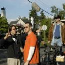 Producer Christopher Racster and Writer/Director/Star Peter Paige on the set of SAY UNCLE - 454 x 301