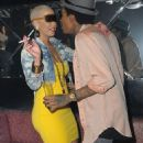 Amber Rose, Wiz Khalifa, and Trey Songz at Cameo Nightclub in Miami, Florida - January 28, 2012 - 454 x 883