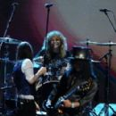 Steven Adler perform at the Rock N Roll Hall of Fame Induction on April 14, 2012 - 454 x 288