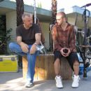 Director Nick Cassavetes and Justin Timberlake behind the scene of Alpha Dog - 2007
