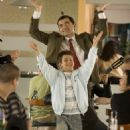 Rowan Atkinson as Mr. Bean and Max Baldry as Stepan in Universal Pictures' Mr. Bean's Holiday - 2007.