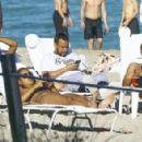 French Montana was spotted out having drinks and relaxing with friends in Miami, Florida on January 4, 2015