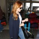 Brittany Snow Arrives at LAX Airport in LA - 454 x 681