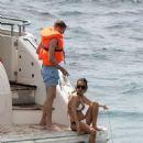 Ann-Kathrin Brommel and Anna Sharypova in Bikini on holiday in Mallorca - 454 x 587