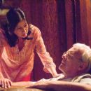 Stella Arroyave as Gina and Anthony Hopkins as Felix Bonhoeffer in Slipstream - 454 x 301