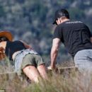 'Newly-engaged' Maggie Q displays her abs in a crop top on hike with 'fiancé' Dylan McDermott - 454 x 292