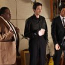 Cedric the Entertainer as 'Willie Dixon', Adrien Brody as 'Leonard Chess' and Jeffrey Wright as 'Muddy Waters' in Sony BMG Film, Parkwood Pictures and Tristar Pictures' drama CADILLAC RECORDS. Photo credit: Eric Liebowitz. © 20