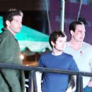James (Jon Bernthal), Aaron (Elijah Wood) and George (Chris Klein) in the scene of Day Zero.