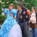 Enchanted Princess (Nicole Parker), Will (Matt Lanter), Calvin (Garry 'G-Thang' Johnson) and Juney (Crista Flanagan) in DISASTER MOVIE. Photo credit: Jon Barren Farmer.