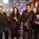 (Left to right.) Freddy Rodriguez, Vanessa Ferlito, Jay Hernandez  and Melonie Diaz star in Overture Films' NOTHING LIKE THE HOLIDAYS.