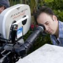 Director David Wain on the set of Role Models.