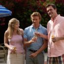Simon Baker (center) and Neil Flynn (right) in the scene of Sex and Death 101.
