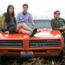 Felicia (Amanda Crew), Ian (Josh Zuckerman) and Lance (Clark Duke) in the scene of Sex Drive.