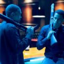 Chris Brown (left) and Michael Ealy star in Screen Gems' action thriller TAKERS. Photo By: Suzanne Tenner. ©2009 Screen Gems, Inc.  All Rights Reserved.