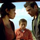 America Ferrera and Jesse Garcia try to help with crossing the border.