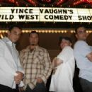 (From left to right) Sebastian Maniscalco, Ahmed Ahmed, John Caparulo and Bret Ernst in Vince Vaughn's Wild West Comedy Show © 2007 Picturehouse