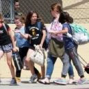 Melissa McCarthy out with her daughters and their friends in Los Angeles, California on April 04, 2017 - 454 x 305